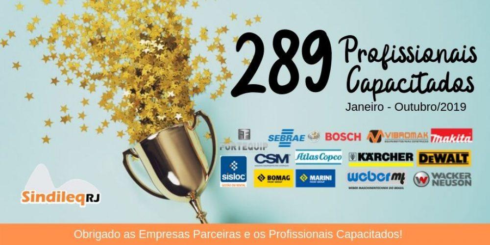 289 Profissionais Capacitados no Sindileq-RJ